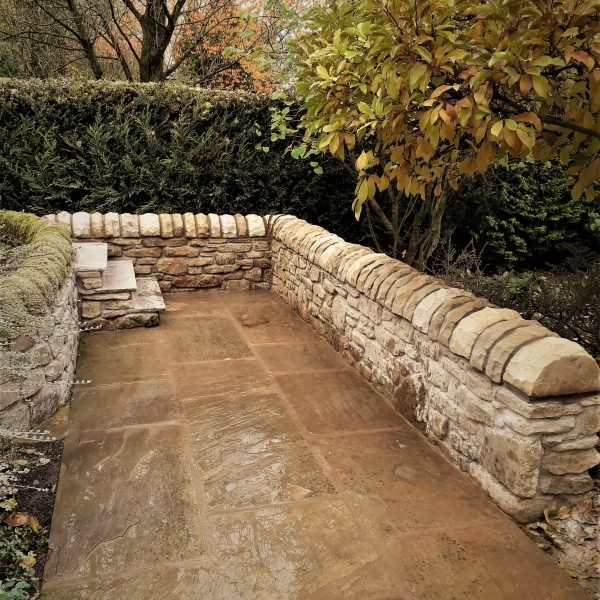 Sandstone Steps and Wall